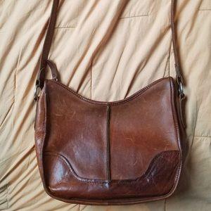 Genuine Frye Leather Shoulder Bag Medium Size